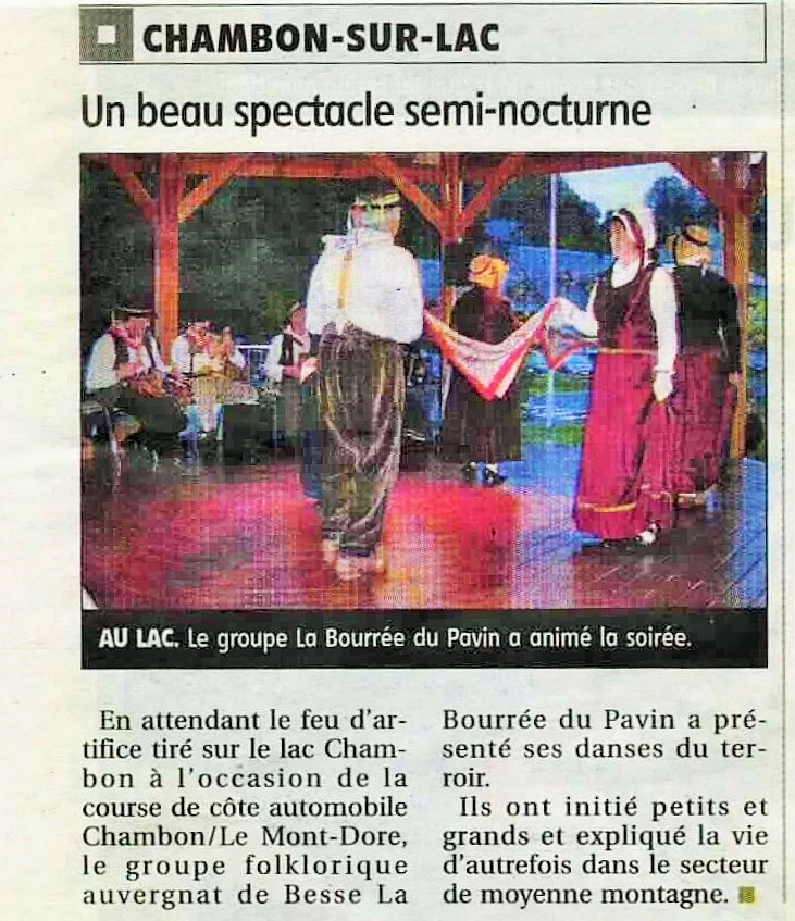 Article chambon bourree